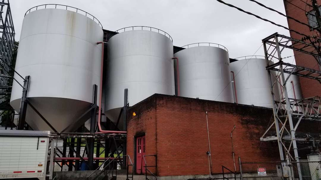 Fermentation Tanks at Barton's Distillery