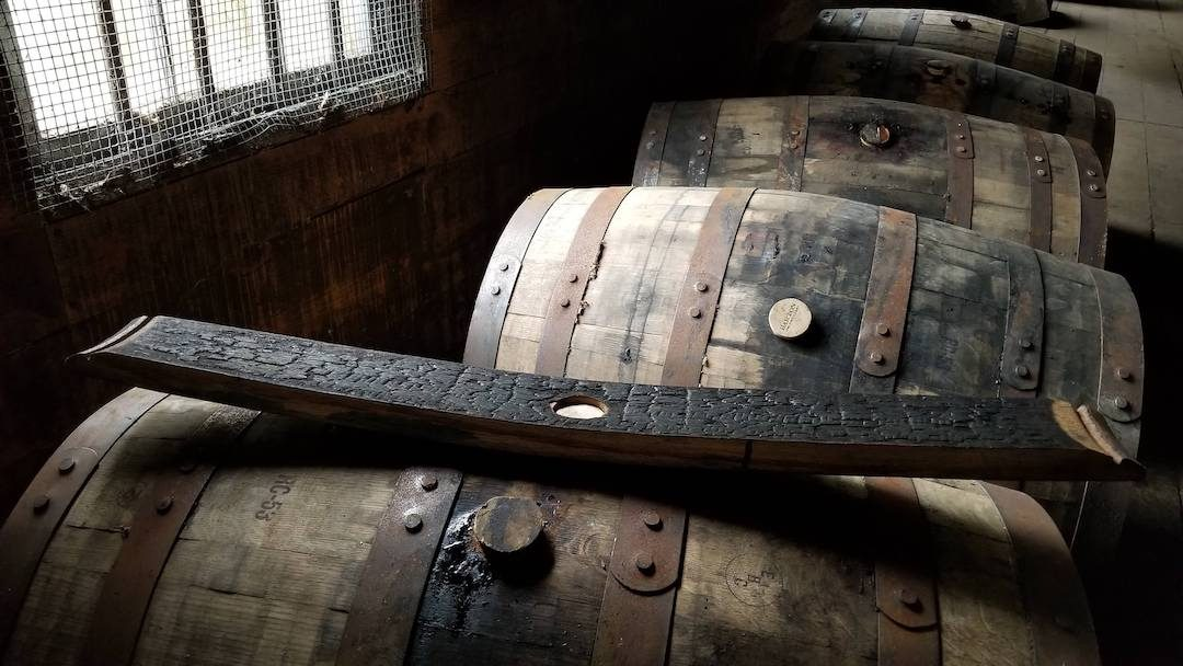 Charred Barrel for aging Bourbon