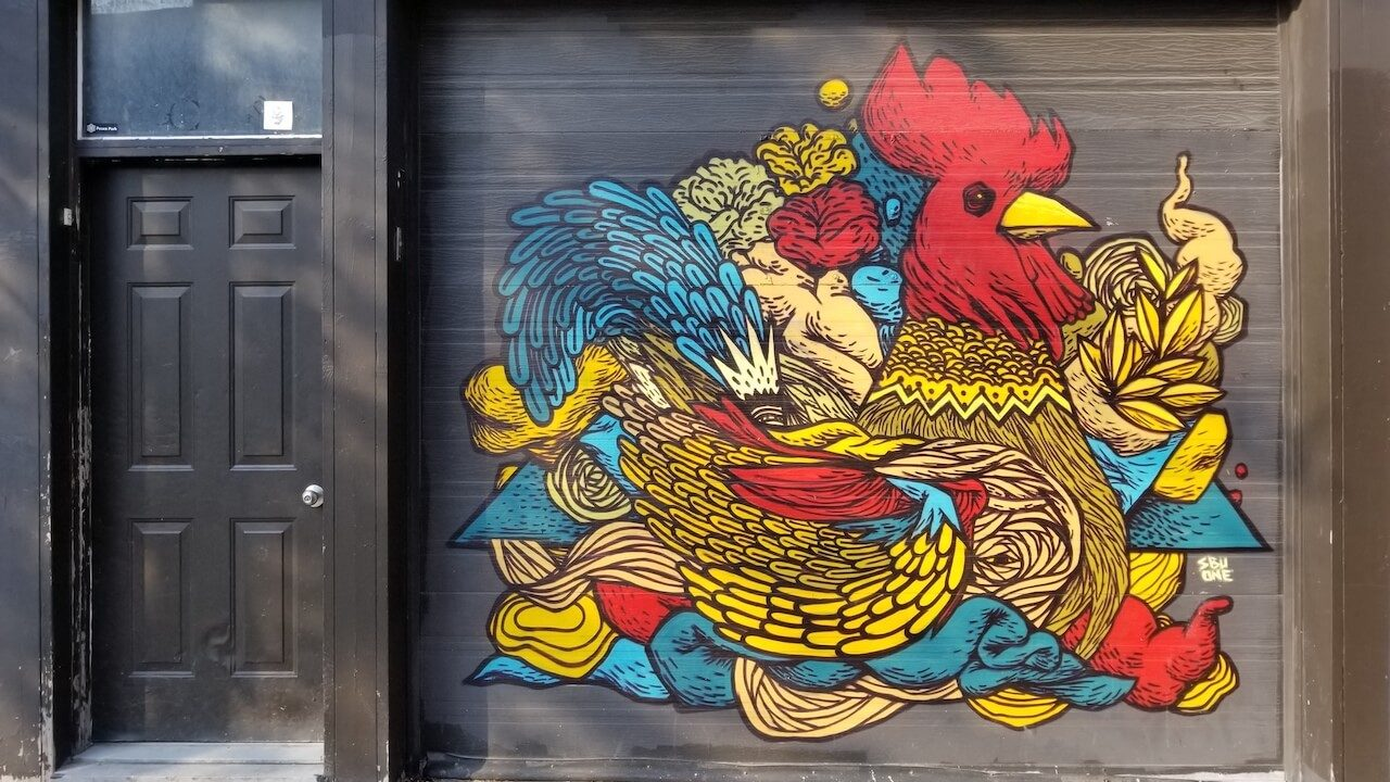 Rooster Grafitti Montreal