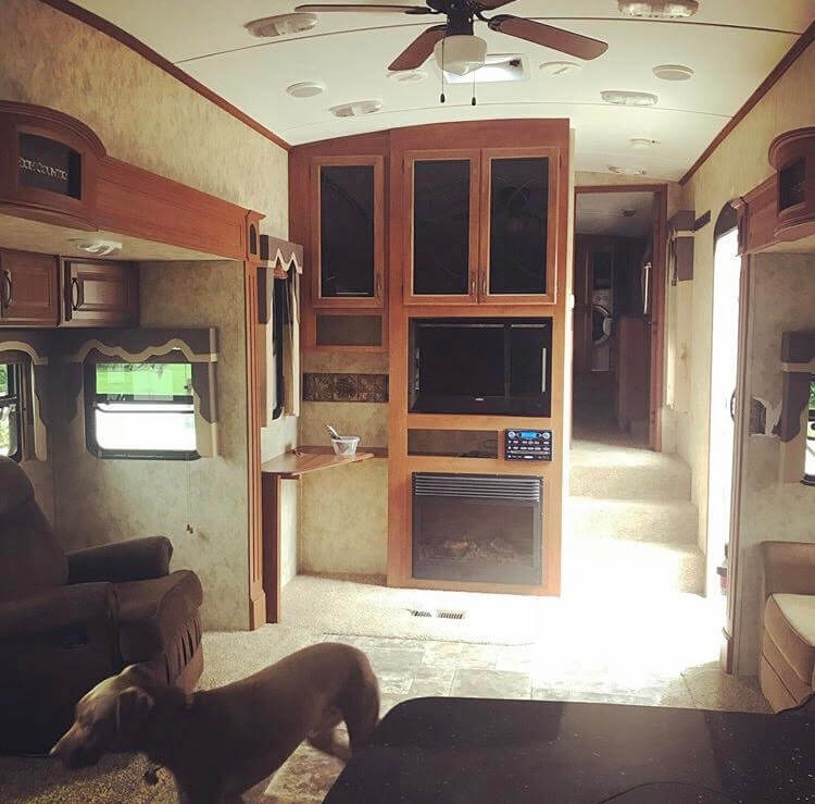 Living Room RV Before Remodel